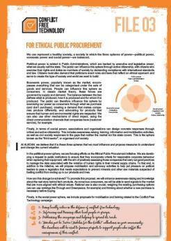 For ethical public procurement