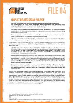 Conflict-relates sexual violence