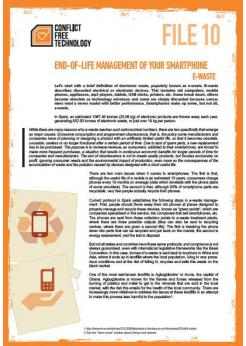 End-of-life management of your smartphone e-waste